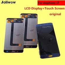 Stokta var! Elephone S7 IÇIN LCD Ekran + Dokunmatik Ekran Digitizer Meclisi Yedek Aksesuarlar Için Telefon 5.5″