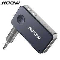 Mpow BH051 Bluetooth 5.0 récepteur adaptateur sans fil avec charge rapide et Assistant vocal 10H Playtime pour casque voiture maison