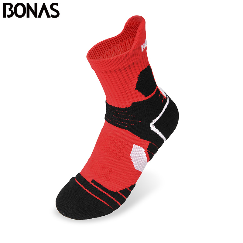 Bonas Brand 3 Pair/pack Breathable Red Short Socks CoolMax Polyester Warm Socks Men Fashion Quick Dry Male Cotton Socks