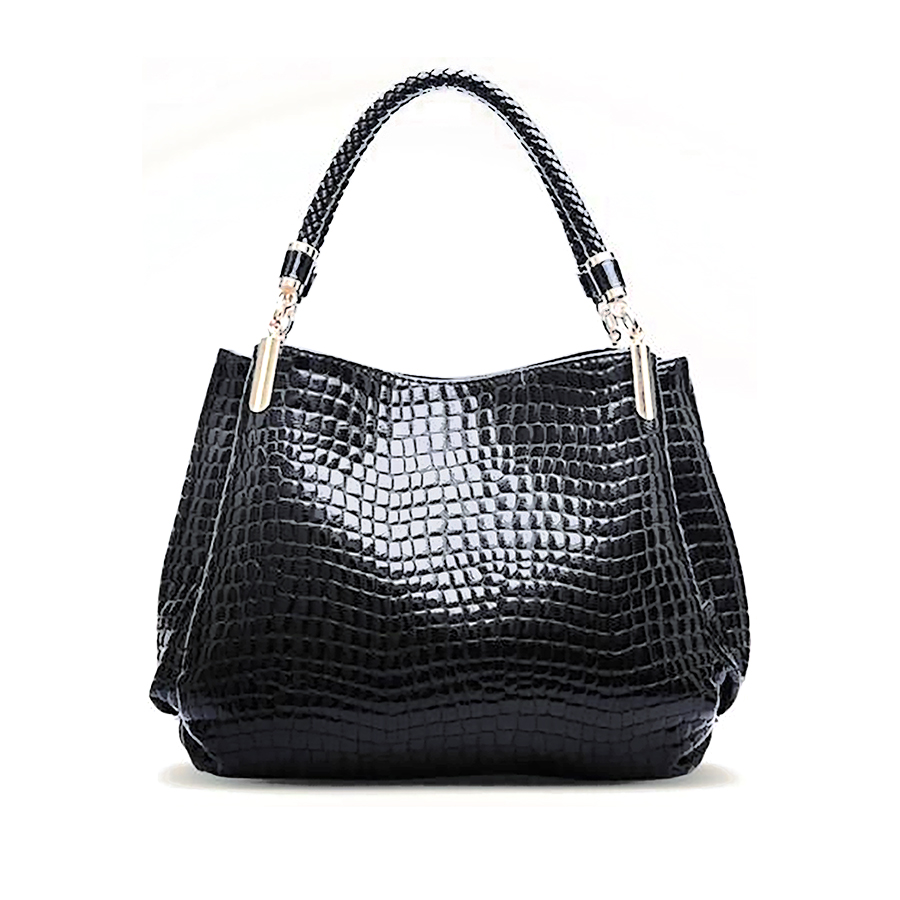 Compare Prices on Designer Black Patent Leather Handbags- Online ...