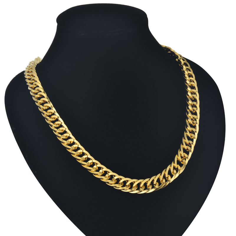 Aliexpress.com : Buy Cuban Gold Chains 9MM Mens Gold Chain ...