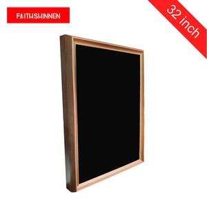 Image 1 - LCD screen 32 inch digital signage wooden frame digital advertising screens digital photo album