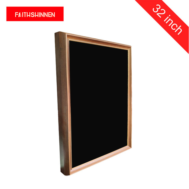 LCD screen 32 inch digital signage wooden frame digital advertising screens digital photo album