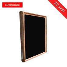 Pantalla LCD de 32 pulgadas, señalización digital, marco de madera, pantallas publicitarias digitales, álbum de fotos digital