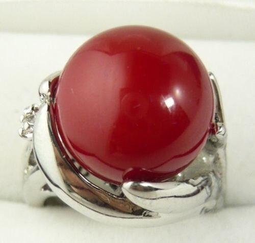 Doprava zdarma @@@@@ pěkný 18KGP prsten Red Coral velikosti AAA Grade 4size select