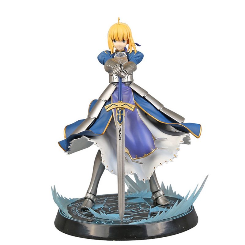 Animation game Fate/stay night Unlimited Blade Works King of Knights Saber 1/7 Scale Pre-painted Figure Collectible Toy 26cm fate stay night unlimited blade works king of knights saber 1 7 scale pre painted figure collectible toy 25cm