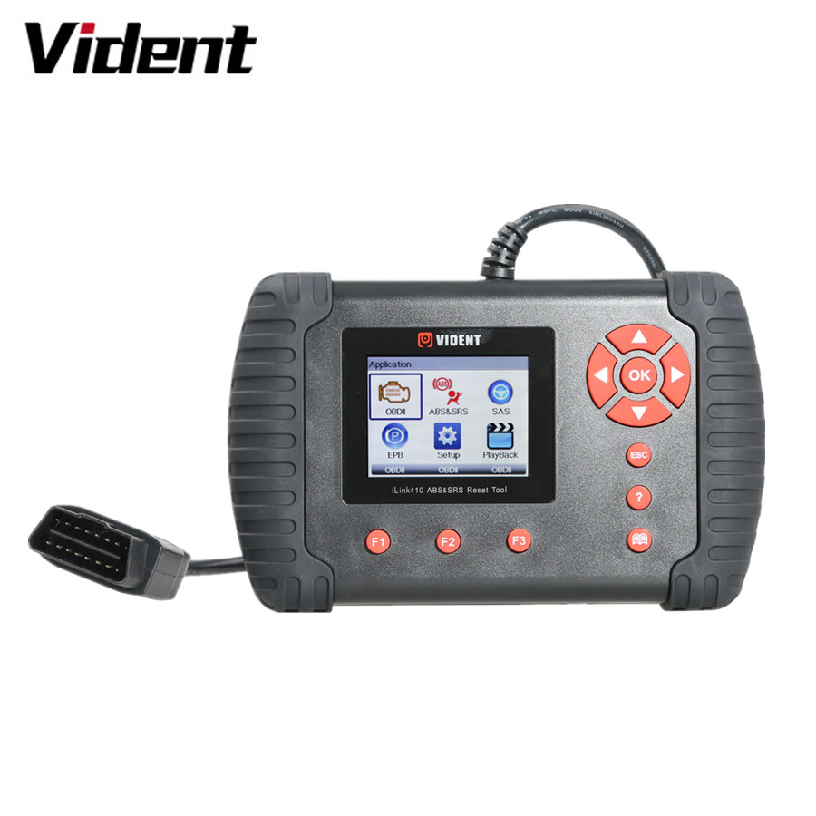 VIDENT iLink410 ABS&SRS&SAS Reset Tool Featured with ABS and SRS System Diagnosi