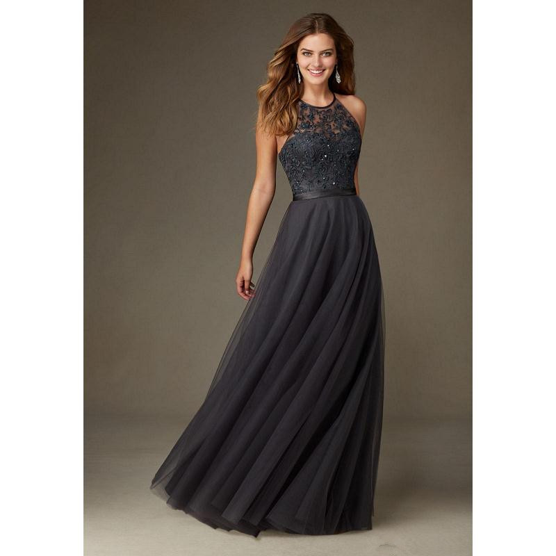 2017 charcoal gray bridesmaid dresses long halter