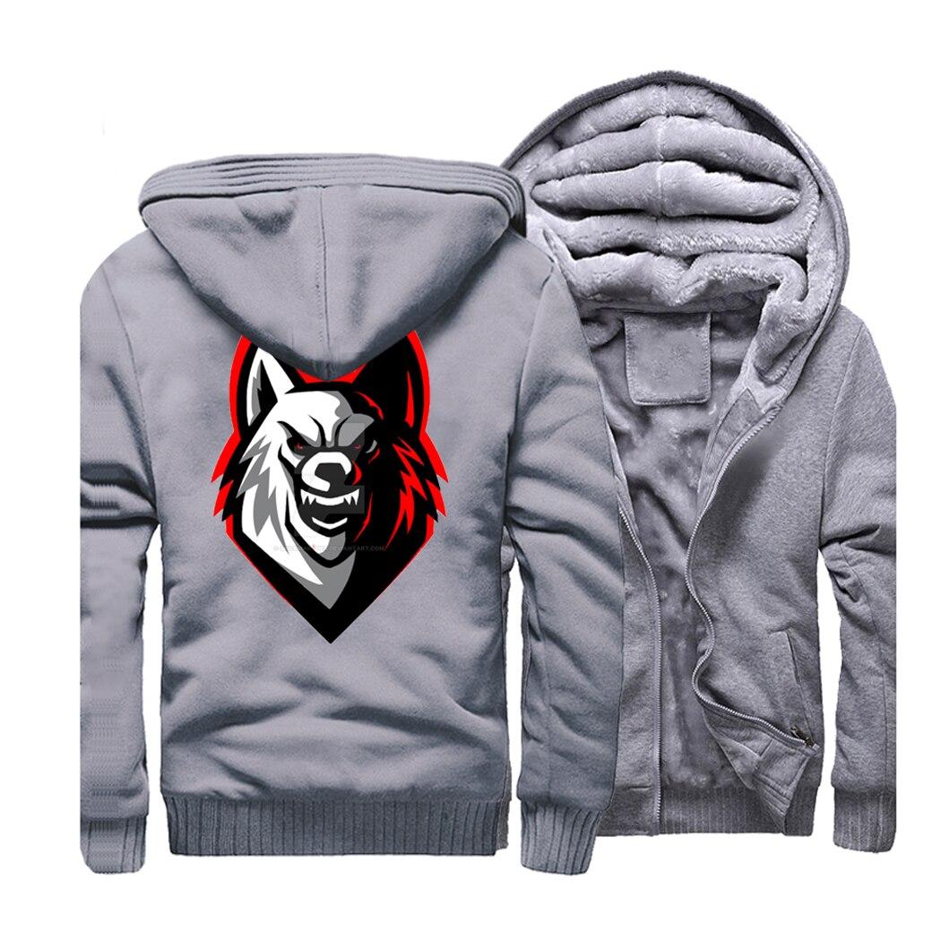 Wolf Hoodies Men 2019 New Warm Animal Hooded Harajuku Brand Sweatshirts Men 39 s Jackets Hip Hop Streetwear For Men Coat CM01 in Hoodies amp Sweatshirts from Men 39 s Clothing