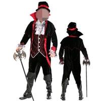 Sexy Gothic Vampire Costume Men Carnival Adult Deguisement Halloween Costumes Zombie Vampire Cosplay for Men Fancy Dress