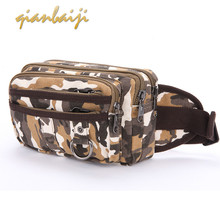 Man Camouflage Pocket Man Leisure Canvas Waist Pack Belt Bum Mini Hip Belly Bag Men Fanny Packs For Women Banane Femme Sac Purse