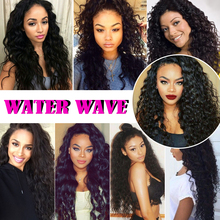 Bling Hair brazilian Water Wave 3 Bundles Nature color 10-24inch Remy Human Hair For black women and for Salon Hair Extentions