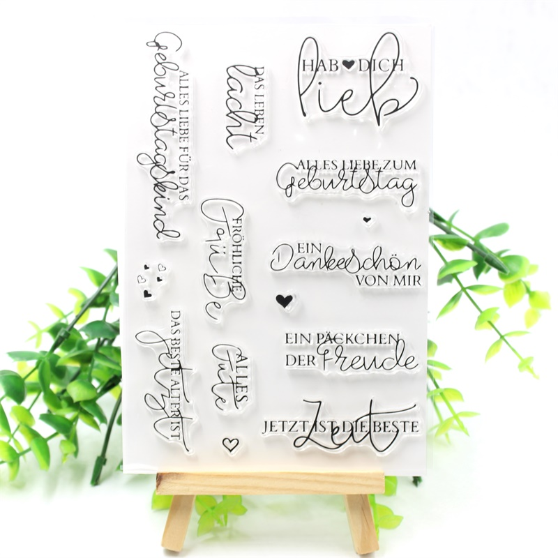 KSCRAFT New Transparent Clear Silicone Stamps for DIY Scrapbooking/Card Making/Kids Crafts Fun Decoration Supplies