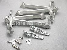 Rear Passenger Foot Peg Footrest&Bracket For Suzuki GSX-R1000 2007-2008 Silver