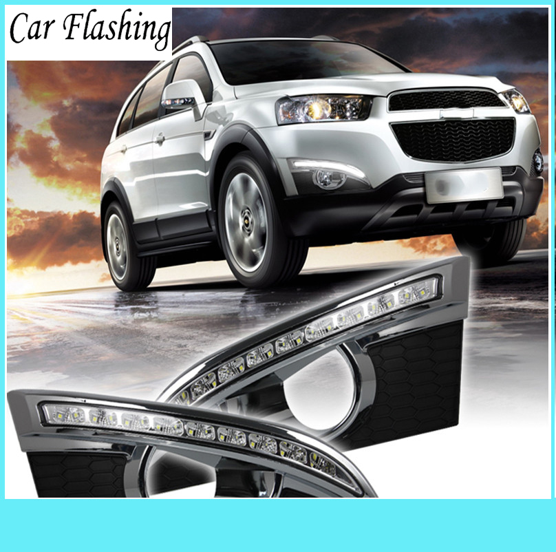 Car Flashing 1 Pair for Chevrolet Captiva 2011 2012 2013 DRL Daytime Running Lights Relay 12V