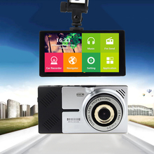 5″ Android Car DVR GPS Navigation 4.4.2 Quad core Wifi Parking Rearview Mirror recorder Dual cameras Dash Cam with map