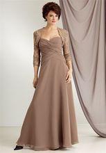 In fashiona-line Abendkleid 2015 Lange Elegante Mit Jacke chiffon Applique Abendkleid Mutter der Braut Kleid Kleid