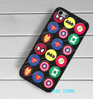 Superhero Logo Marvel DC Cool Symbol Collage On Glitter Case For Samsung Galaxy S3 S4 S5
