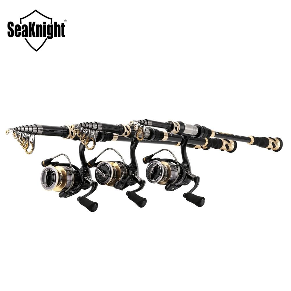 2018 New SeaKnight Rod Combo TREANT II 10+1BB 9/11/13Kg 6.2:1 Spinning Reel +LICH 1.8 3.6M Portable Telescopic Fishing Rod Set