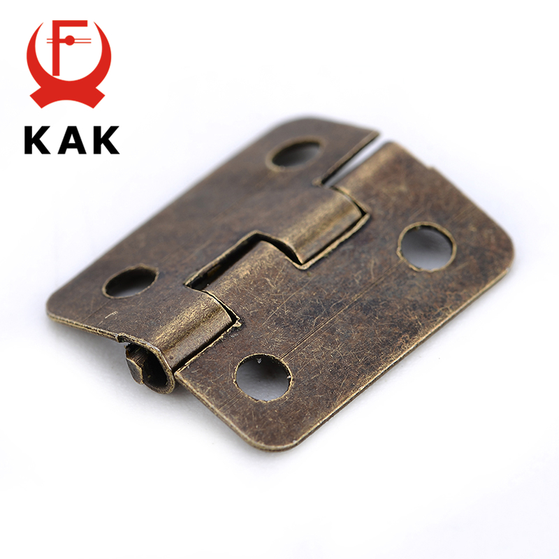10PCS KAK Mini Bronze Gold Hinge Square Antique Door Hinges For Wooden  Cabinet Drawer Jewellery Box Furniture Hardware In Cabinet Hinges From Home  ...