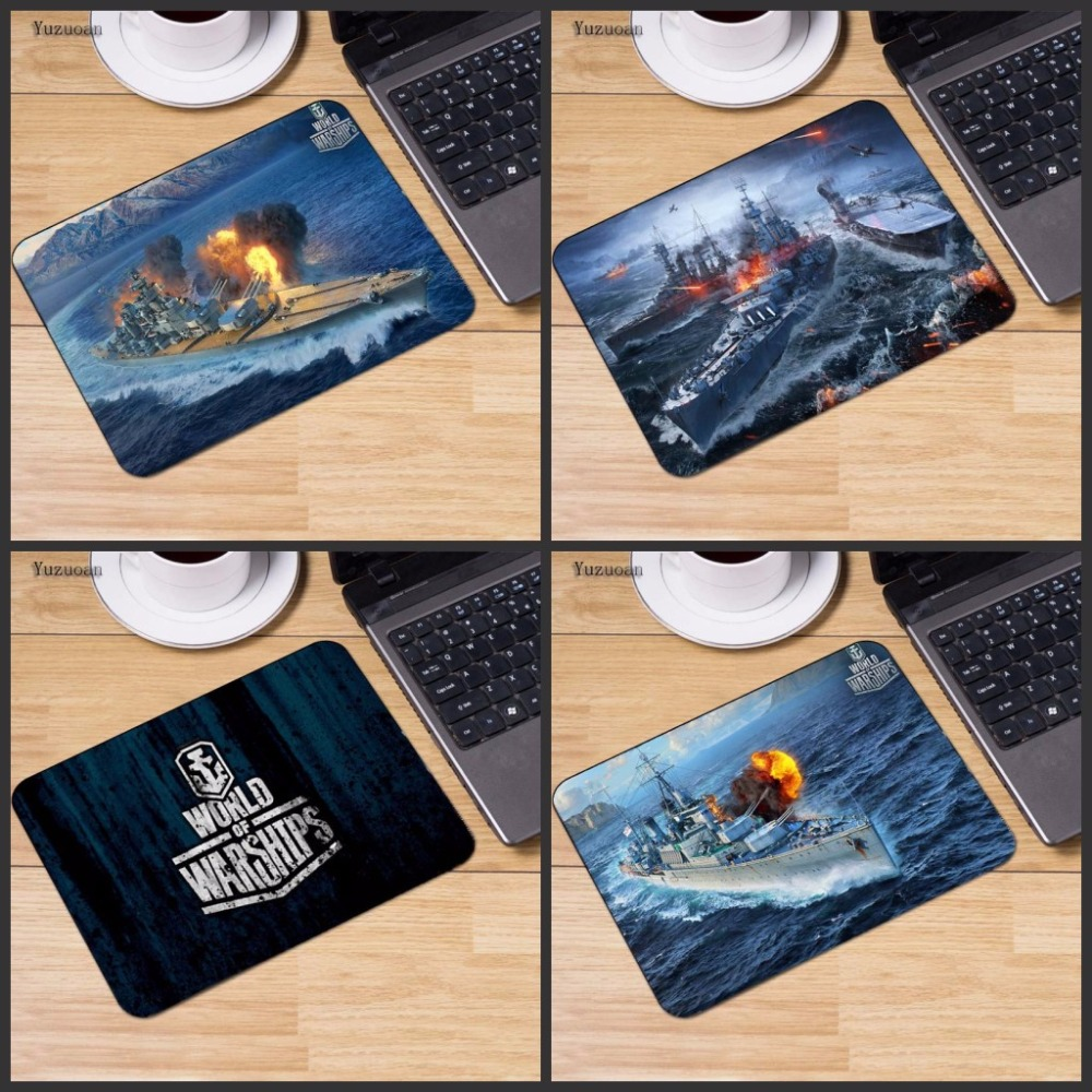 Yuzuoan World of Warships storm New Arrivals Mouse Pad Computer Gaming keyboard Mouse Pads Not Lockedge MousePad 18X22CM
