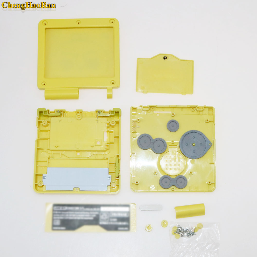 Image 4 - 1set Glass Screen Plastic Full Repair Parts Replacement Housing Shell Cases Cover Kit Sets For SpongeBob Game boy GBA Advance SP-in Cases from Consumer Electronics