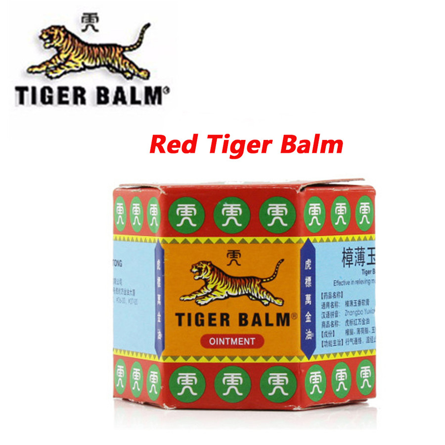 19.4g Tiger Balm Red Ointment Essential Balm Insect Bite Extra Strength Pain Relief Arthritis Joint Pain Massage For Pain massager relax essential oil cooling refreshing ointment cold dizziness prevent mosquito bites itching sprains relief pain a5