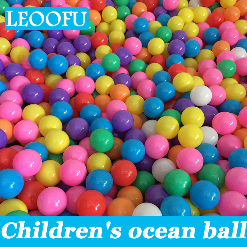 LEOOFU 100pcs Eco-Friendly colorful soft plastic water pool ocean ball baby funny toys stress ball outdoor fun sports