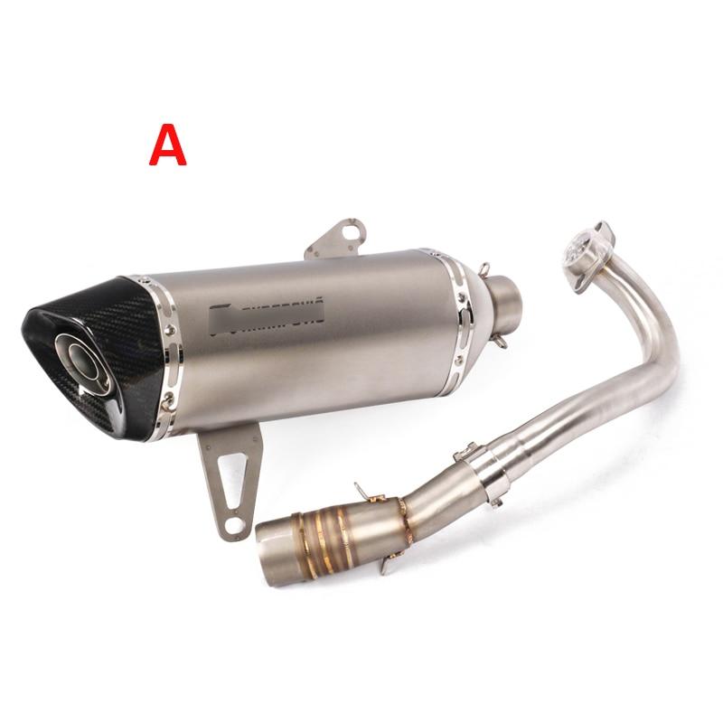 Sans lacet XMAX250 XMAX300 moto système d'échappement silencieux pointe silencieux brancher lien tuyau pour Yamaha XMAX250 300 2017-2018 - 2
