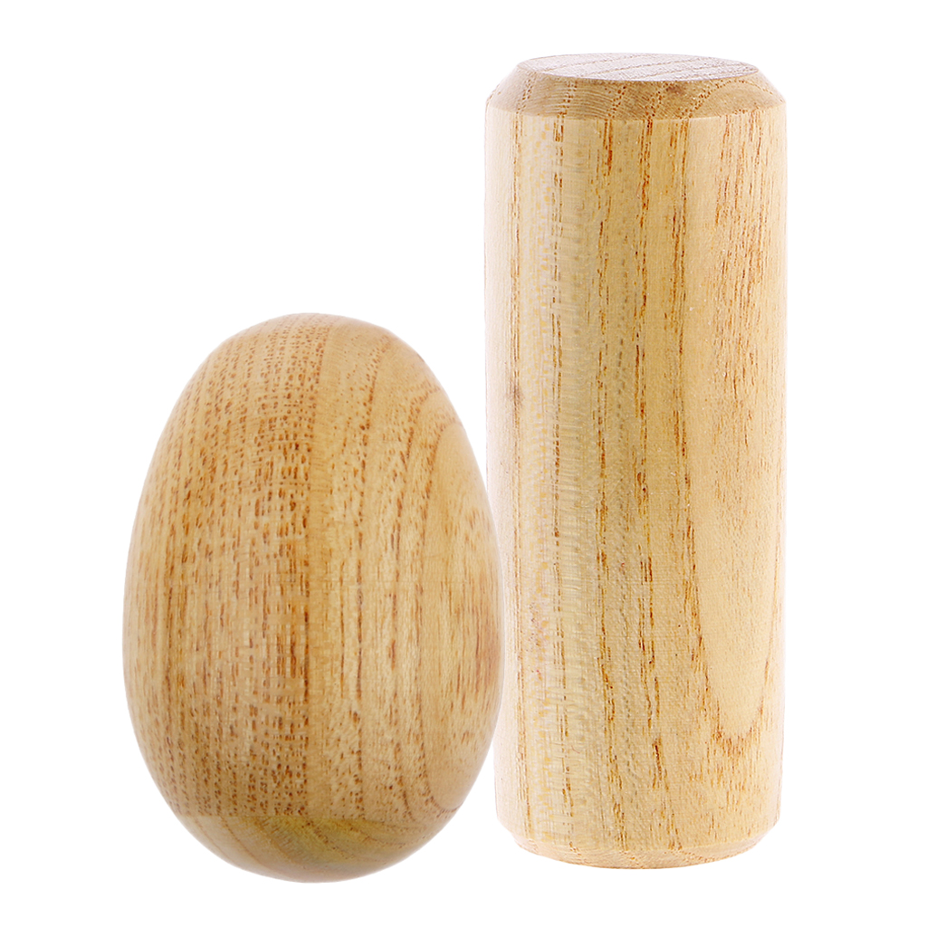 Drum Kit Percussion Round Wooden Sand Shaker+Sand Egg Maracas Kids Music Toy