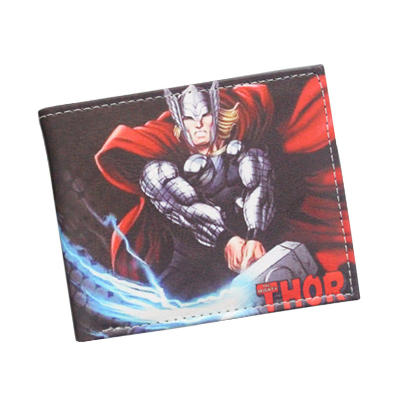 Avenger Alliance 2 Marvel Wallet Thor Comic Printing Wallet Men And Women Cartoon Wallet Card Package Wallet bs 619 avenger alliance superman keychain with light and sound