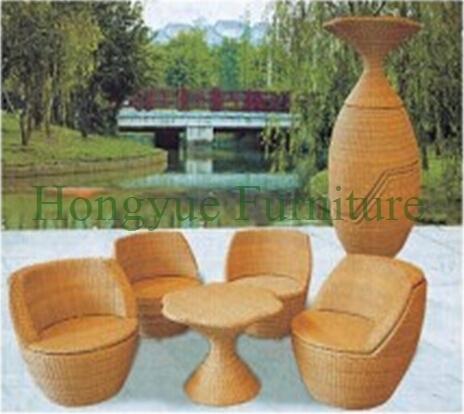 Exterior ratán sofá seccional set proveedor de China