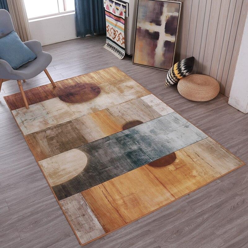 Moderne Simple salon tapis nordique géométrique Design thé Table chambre enfants ramper tapis salon tapis