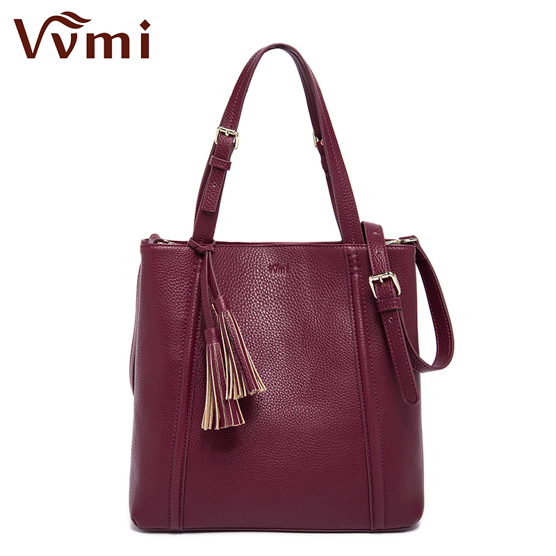 Vvmi bolsos women totes handbags simple tassel single shoulder bags female new fashion autumn and winter