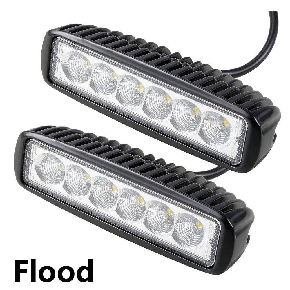 2Pcs 18W Car Spotlight Floodlight Light Work LED Bar Driving Lamp ...