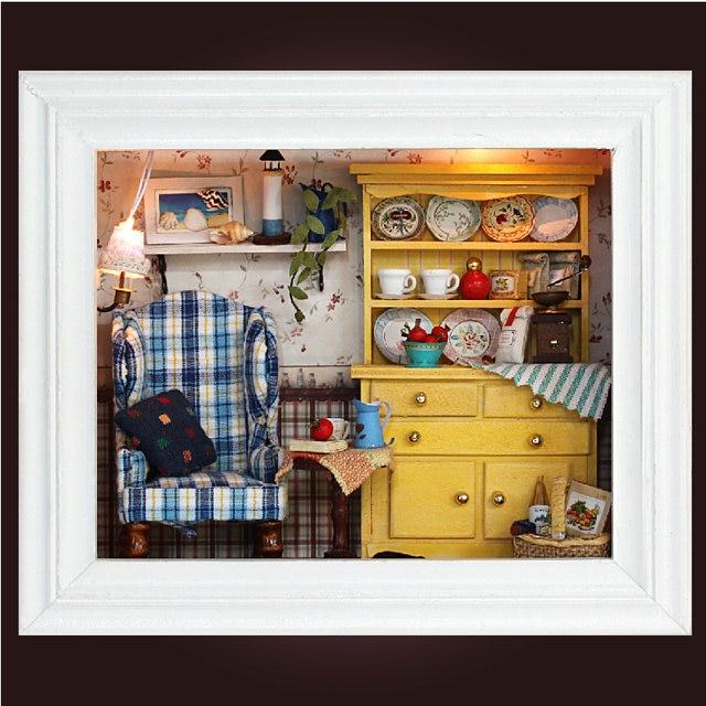 Online Shop Handmade Wooden Frame Room Box Miniature Diy 3d