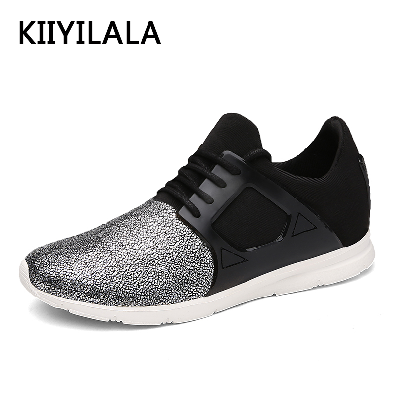 KIIYILALA Silver Running Shoes Soft Blue Sneakers Unisex Sports Spring Mesh Sport Shoes Lace-up For Women Brand Running Shoes