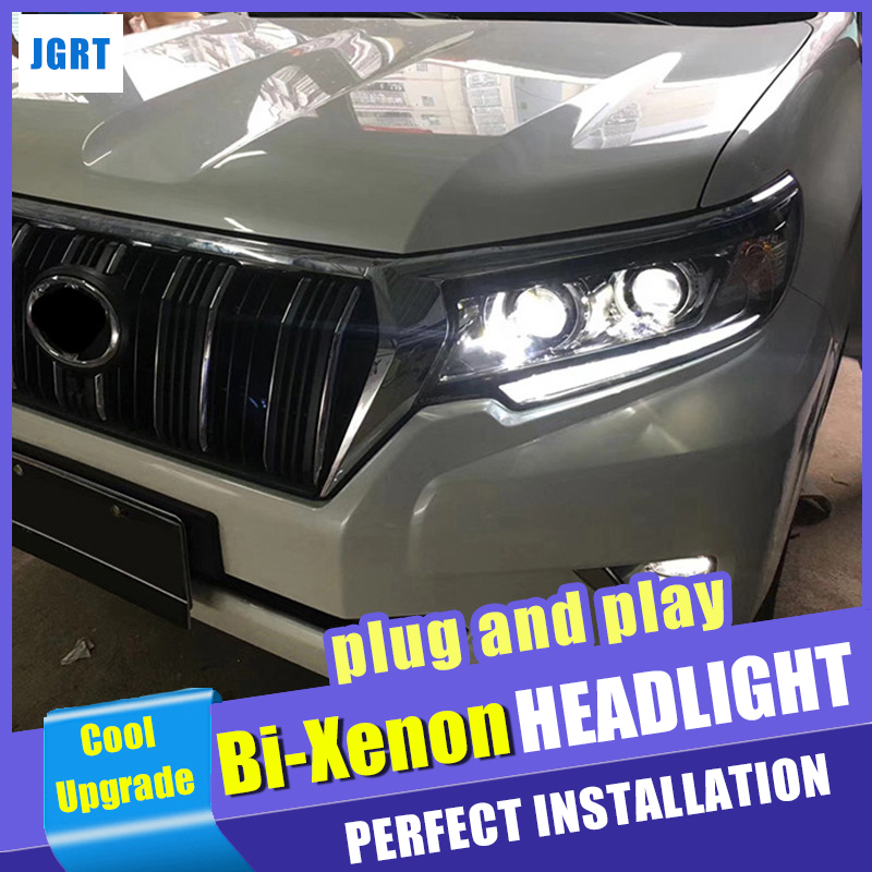 head lamps car styling For Yoyota Land Cruiser Prado headlights 2017 2018 h7 Bi Xenon Beam