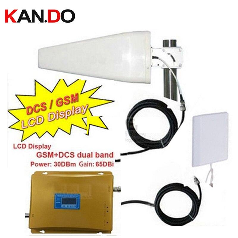 W/15 m câble & panneau antennes GSM DCS double bande téléphone booster GSM 900 Mhz Booster + DCS 1800 Mhz répéteur, double bande GSM DCS répéteur