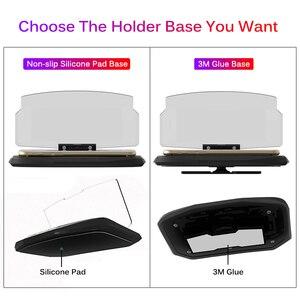 Image 5 - Chargeur sans fil pour téléphone intelligent universel voiture miroir support pare brise projecteur HUD tête haute affichage GPS Navigation HUD support