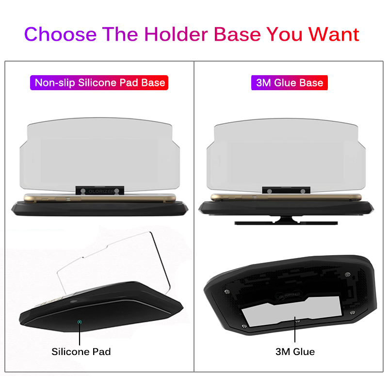 Image 5 - Wireless Charger For Smart Phone Universal Car Mirror Holder Windscreen Projector HUD Head Up Display GPS Navigation HUD Bracket-in Mobile Phone Chargers from Cellphones & Telecommunications