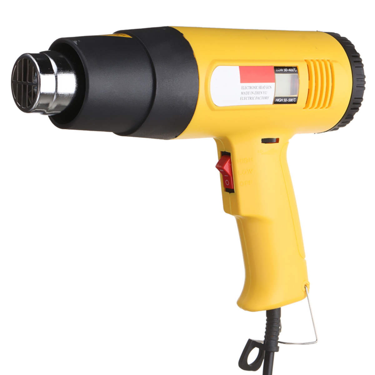 все цены на JIGUOOR 2000W AC 220V LCD Digital Hot Air Heat Gun Temperature Adjustable Nozzle Yellow