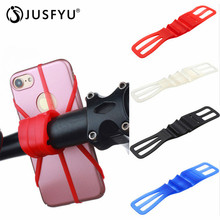 цена на Phone Handlebar Stand Bracket Bike Bicycle Motorcycle Mobile Phone Silicone Holder Mount For Cellphone GPS Bicycle Accessories