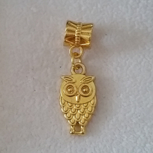 Free Shipping 1PC Gold European Floating Dangle Charms Owl Animal Bead Fit Pandora Snake Chain Bracelet DIY Jewelry
