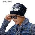 Men Thick Winter Hat with Velvet Fashion Korean Style Men's Skullies & Beanies Warm Winter Caps for Men Women KC029