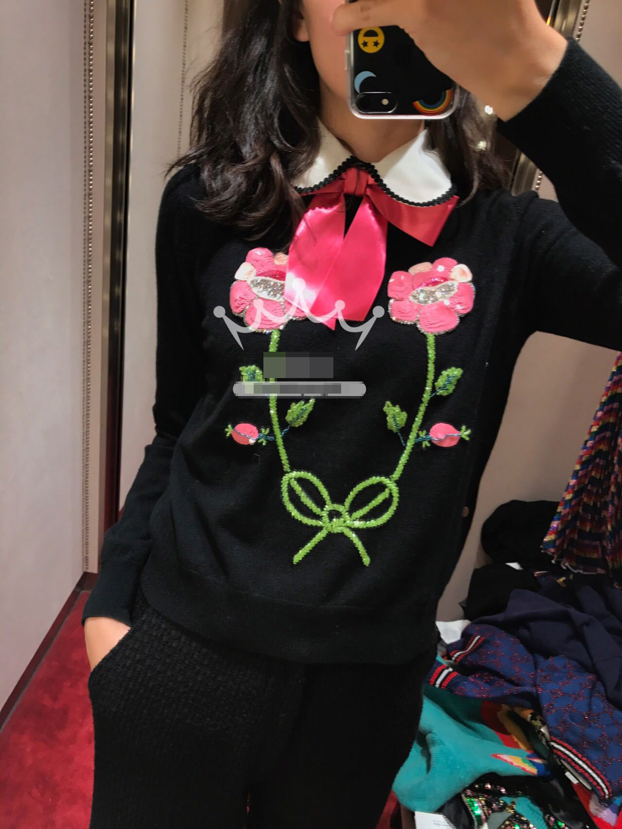 2019 Autumn Winter Christmas Runway Designer Sweater Knitted Women Luxury Floral Embroidery Sequins Pullovers Jumper Clothes