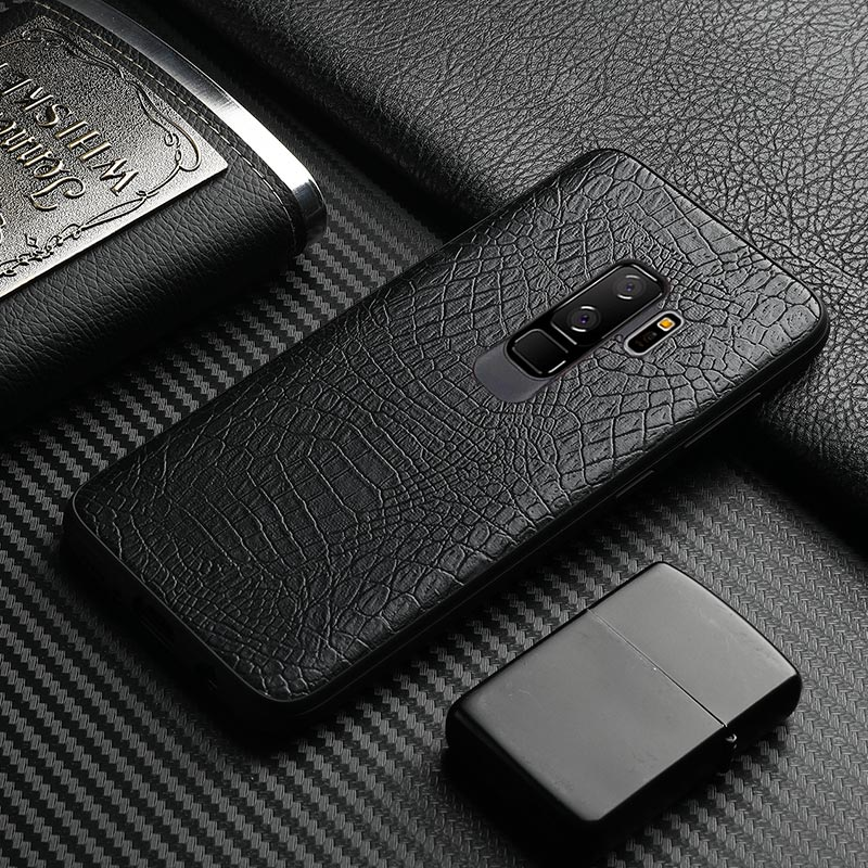 For Samsung Galaxy S9 case samsung S9 plus cover business style crocodile leather coque for galaxy S8 cover s8+ phone case