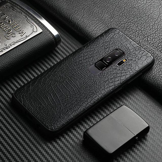 coque samsung s9 plus cuire noir
