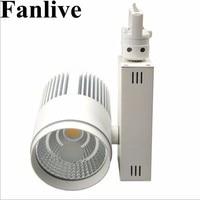 Fanlive LED Track Light 30W COB Rail Lights Spotlight Replace 300W Halogen Lamp Clothing Shop Shoe Shop 110V 220V