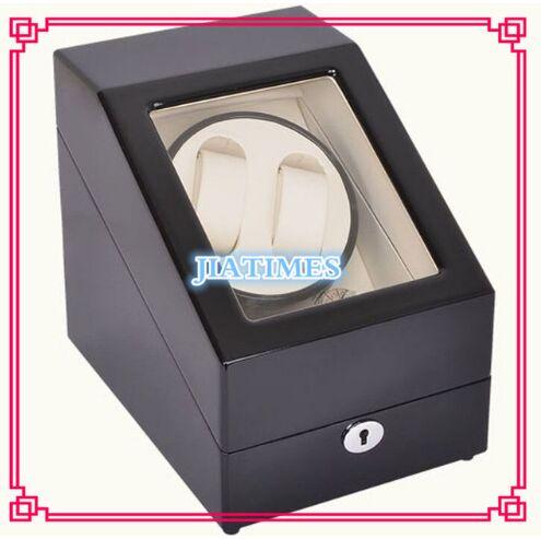 High Quality 2+3 Black+White Watch Winder Wood Case Box Carbon Fiber PU high quality 6 7 black black watch winder wood case box carbon fiber pu